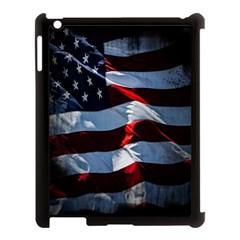Grunge American Flag Background Apple Ipad 3/4 Case (black) by Simbadda