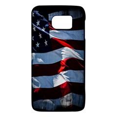 Grunge American Flag Background Galaxy S6 by Simbadda