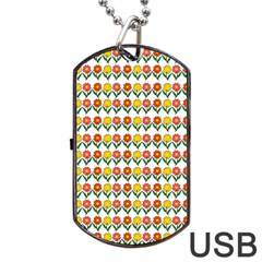 Flowers Dog Tag Usb Flash (one Side) by Valentinaart
