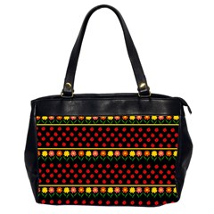Ladybugs And Flowers Office Handbags (2 Sides)  by Valentinaart