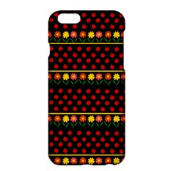 Ladybugs And Flowers Apple Iphone 6 Plus/6s Plus Hardshell Case by Valentinaart