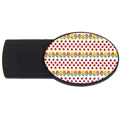 Ladybugs And Flowers Usb Flash Drive Oval (4 Gb) by Valentinaart