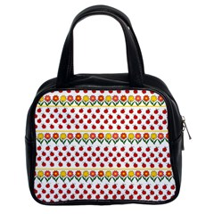 Ladybugs And Flowers Classic Handbags (2 Sides) by Valentinaart