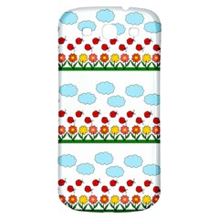 Ladybugs And Flowers Samsung Galaxy S3 S Iii Classic Hardshell Back Case by Valentinaart
