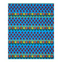Ladybugs And Flowers Shower Curtain 60  X 72  (medium)  by Valentinaart