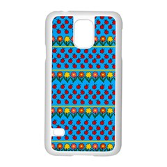Ladybugs And Flowers Samsung Galaxy S5 Case (white) by Valentinaart