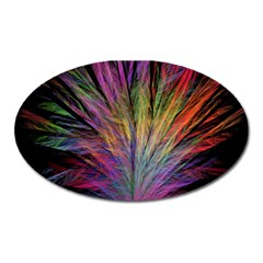 Fractal In Many Different Colours Oval Magnet by Simbadda