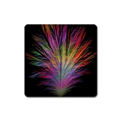 Fractal In Many Different Colours Square Magnet by Simbadda