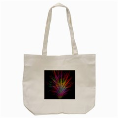 Fractal In Many Different Colours Tote Bag (cream) by Simbadda