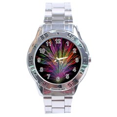 Fractal In Many Different Colours Stainless Steel Analogue Watch by Simbadda