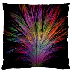 Fractal In Many Different Colours Large Cushion Case (two Sides) by Simbadda