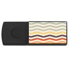 Abstract Vintage Lines Usb Flash Drive Rectangular (4 Gb) by Simbadda