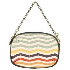 Abstract Vintage Lines Chain Purses (two Sides)  by Simbadda