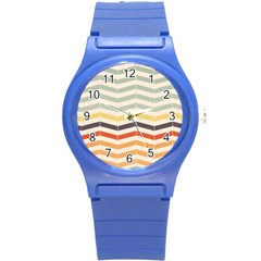 Abstract Vintage Lines Round Plastic Sport Watch (s) by Simbadda