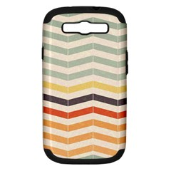 Abstract Vintage Lines Samsung Galaxy S Iii Hardshell Case (pc+silicone) by Simbadda