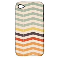 Abstract Vintage Lines Apple Iphone 4/4s Hardshell Case (pc+silicone) by Simbadda
