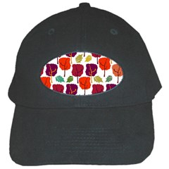 Colorful Trees Background Pattern Black Cap by Simbadda