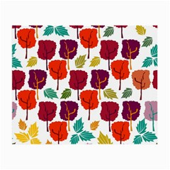 Colorful Trees Background Pattern Small Glasses Cloth by Simbadda