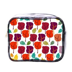 Colorful Trees Background Pattern Mini Toiletries Bags by Simbadda