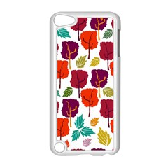 Colorful Trees Background Pattern Apple Ipod Touch 5 Case (white) by Simbadda