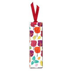 Colorful Trees Background Pattern Small Book Marks by Simbadda