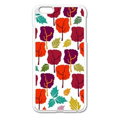 Colorful Trees Background Pattern Apple Iphone 6 Plus/6s Plus Enamel White Case by Simbadda