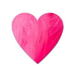 Very Pink Feather Heart Magnet by Simbadda