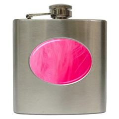 Very Pink Feather Hip Flask (6 Oz) by Simbadda