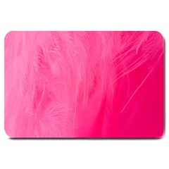 Very Pink Feather Large Doormat  by Simbadda