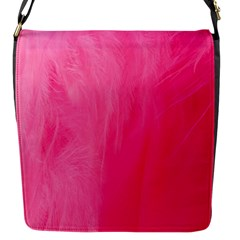 Very Pink Feather Flap Messenger Bag (s) by Simbadda