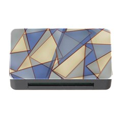 Blue And Tan Triangles Intertwine Together To Create An Abstract Background Memory Card Reader With Cf by Simbadda