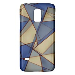 Blue And Tan Triangles Intertwine Together To Create An Abstract Background Galaxy S5 Mini by Simbadda