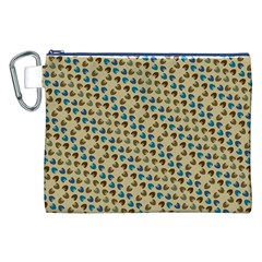 Abstract Seamless Pattern Canvas Cosmetic Bag (xxl) by Simbadda