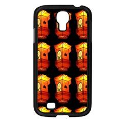 Paper Lanterns Pattern Background In Fiery Orange With A Black Background Samsung Galaxy S4 I9500/ I9505 Case (Black)