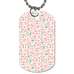 Geometric Abstract Triangles Background Dog Tag (one Side)