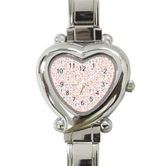 Geometric Abstract Triangles Background Heart Italian Charm Watch by Simbadda