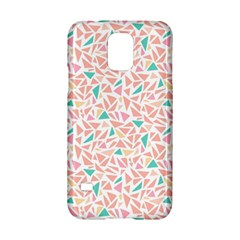 Geometric Abstract Triangles Background Samsung Galaxy S5 Hardshell Case  by Simbadda