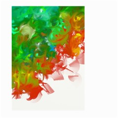 Digitally Painted Messy Paint Background Texture Large Garden Flag (two Sides) by Simbadda