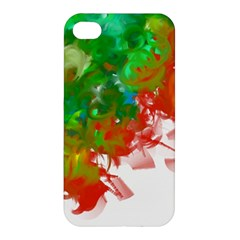 Digitally Painted Messy Paint Background Texture Apple Iphone 4/4s Premium Hardshell Case by Simbadda