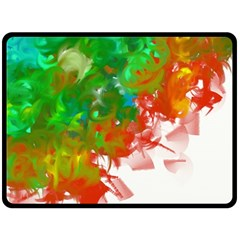 Digitally Painted Messy Paint Background Texture Double Sided Fleece Blanket (large)  by Simbadda