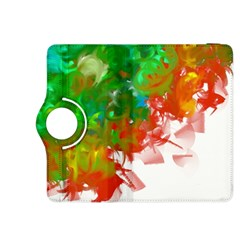 Digitally Painted Messy Paint Background Texture Kindle Fire Hdx 8 9  Flip 360 Case by Simbadda