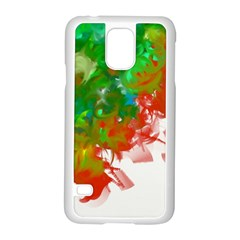 Digitally Painted Messy Paint Background Texture Samsung Galaxy S5 Case (white) by Simbadda