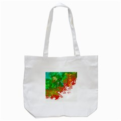 Digitally Painted Messy Paint Background Texture Tote Bag (white) by Simbadda