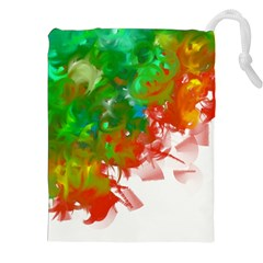 Digitally Painted Messy Paint Background Texture Drawstring Pouches (xxl) by Simbadda