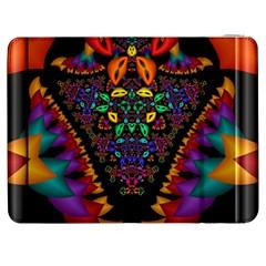 Symmetric Fractal Image In 3d Glass Frame Samsung Galaxy Tab 7  P1000 Flip Case by Simbadda