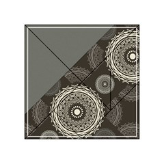 Abstract Mandala Background Pattern Acrylic Tangram Puzzle (4  X 4 ) by Simbadda