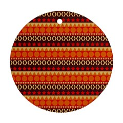 Abstract Lines Seamless Pattern Ornament (round) by Simbadda