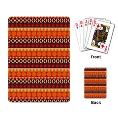 Abstract Lines Seamless Pattern Playing Card by Simbadda
