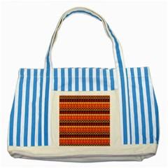 Abstract Lines Seamless Pattern Striped Blue Tote Bag by Simbadda