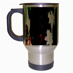Grunge Abstract In Dark Travel Mug (silver Gray) by Simbadda